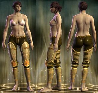 Gold Plate Legs Female