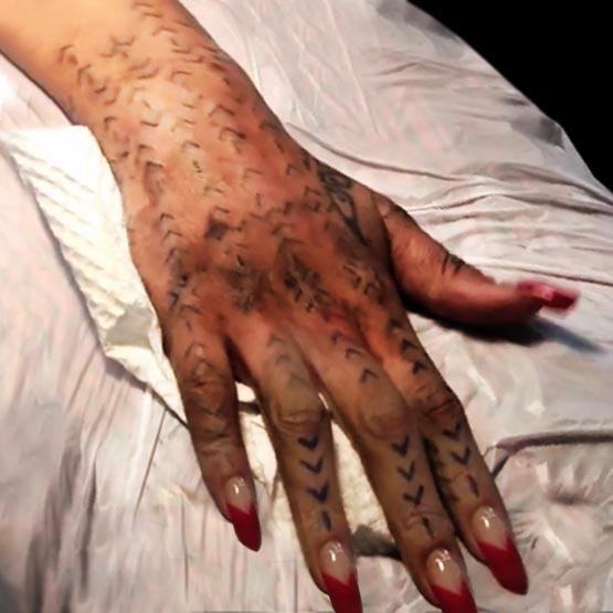 Rihanna New Polynesian Tattoo