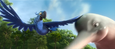 Blu flying with dolphin (Rio 2)