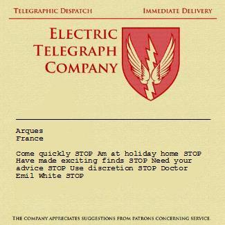 Telegram to Carstairs