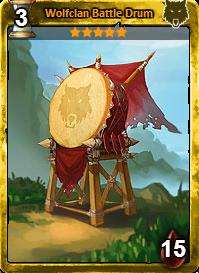 Wolfclan Battle Drum