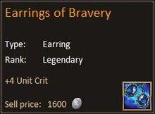Earring of Bravery
