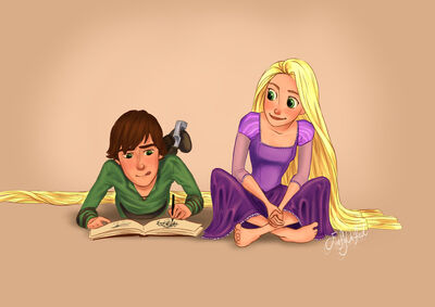 Hiccup and rapunzel by dewdrop34-d627q77