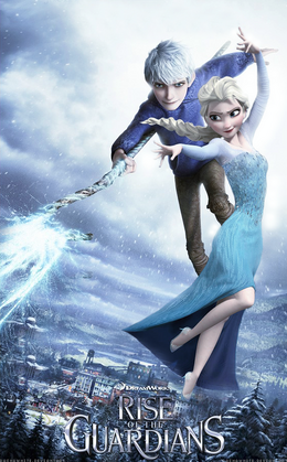 Jelsa rise of the guardians frozen by dashawhite-d7al53g