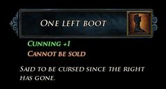 LI One Left Boot Stats