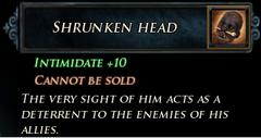 Shrunken Head Description