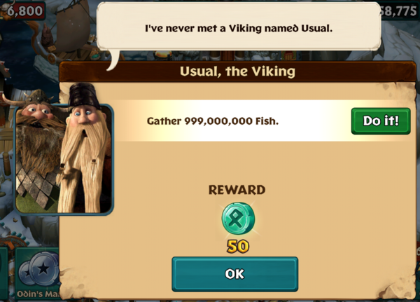 Usual, the Viking