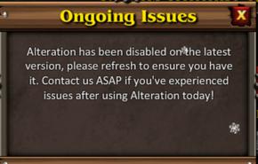 Alteration status