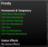 Frosty stats