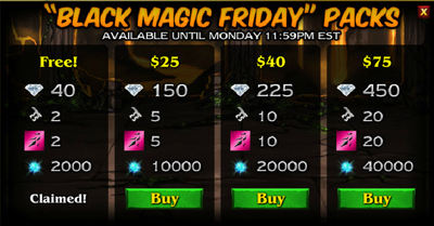 Black magic packs