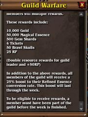 Guild warfare rewards