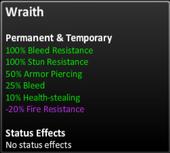 Wraith stats