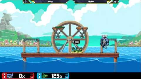 Rivals OF Aether Evo Invitational Keits (Kragg) vs Hylian (Orcane) ALPHA GAMEPLAY
