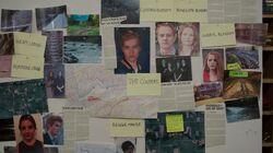 Season 1 Episode 5 Heart of Darkness Blue Gold Murder Board
