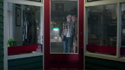 Season 1 Episode 9 La Grande Illusion Betty and Alice leaving The Register