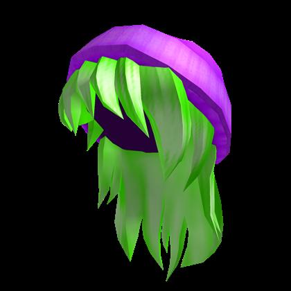 Catalog Purple Beanie With Neon Green Hair Roblox Wikia