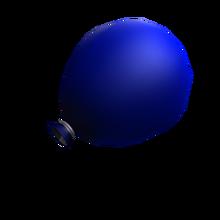 Blue water balloon