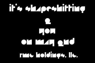 It's shapeshifting 2 you on may 2nd with rmc holdings logo poster