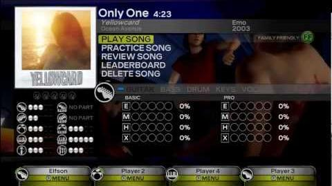 Only One - Yellowcard Expert All Instruments RB3 DLC