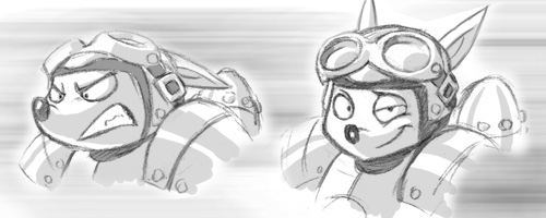 File:Rocket Knight (2010) Concept Artwork Sparkster Headshots.jpg