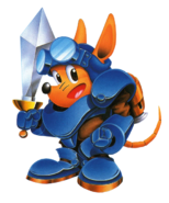 Sparkster (Rocket Knight Adventures Japan Artwork)