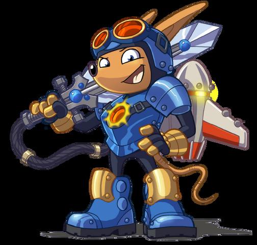 File:Sparkster (Rocket Knight 2010 Official Artwork 2).png