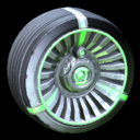 Turbine wheel icon forest green