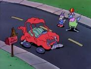 Rocko's car falling apart