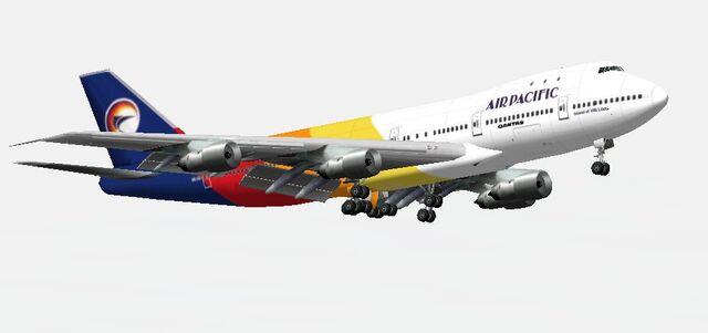 File:Zip.Air Pacific Boeing 747-100 landing.jpg