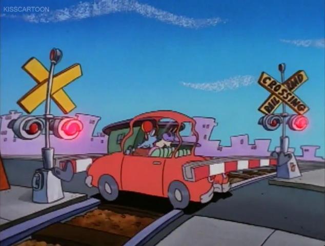 File:Railroad Crossing Cartoon Rocko's Modern Life Driving Mrs Wolfe 04.png