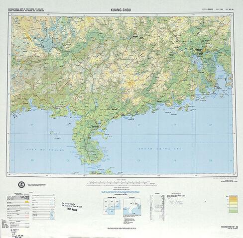 File:SHEET NF 49 - KUANG-CHOU (tỉnh Quảng Châu TQ và một góc nhỏ tỉnh Quảng Ninh của Bắc VN) 1975.jpg