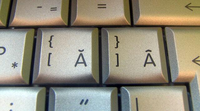 Fișier:Romanian keyboard letters.jpg