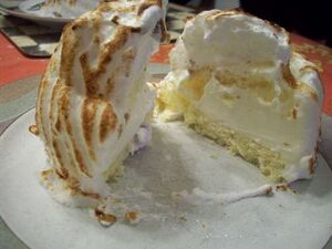 Merengue layered cake