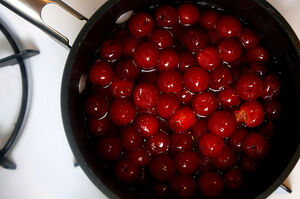 Cherry compote