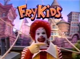Ronald McDonalds Fry Kids opening