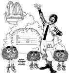 Ronald McDonald coloring paper