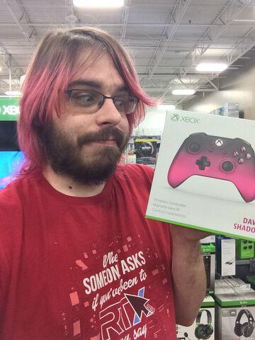 File:Matt pink hair.jpg