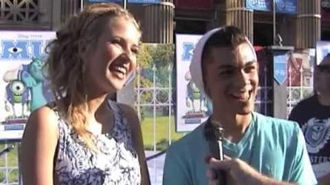 Caroline Sunshine & Adam Irigoyen - Monsters University World Premiere