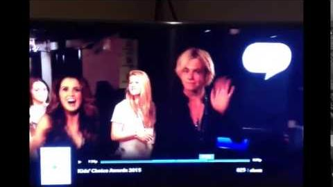 Austin & Ally Cast in Backstage of KCA 2015