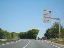 La RN10 près de Ruffigny