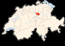 Situation Canton Zoug