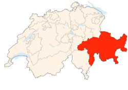 Situation Canton Grisons