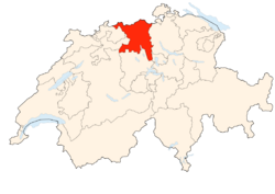 Situation Canton Argovie
