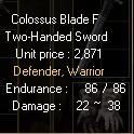 Colossus Blade F