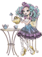 Madeline Hatter and Tea Book Art