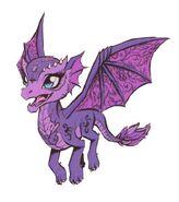 Raven's pet dragon, Nevermore