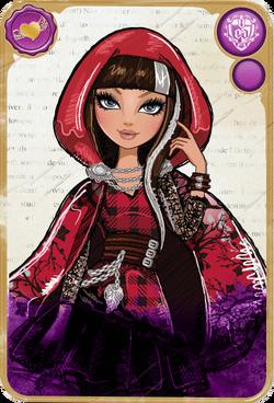 Cerise Hood Card