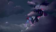 DG BTQ - Cerise Darling flying towards school