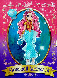 Meeshell Mermaid Diary Card