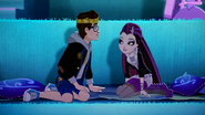 Dexter and Raven sitting in the Theater - DN